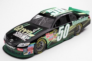 green smokes nascar photo