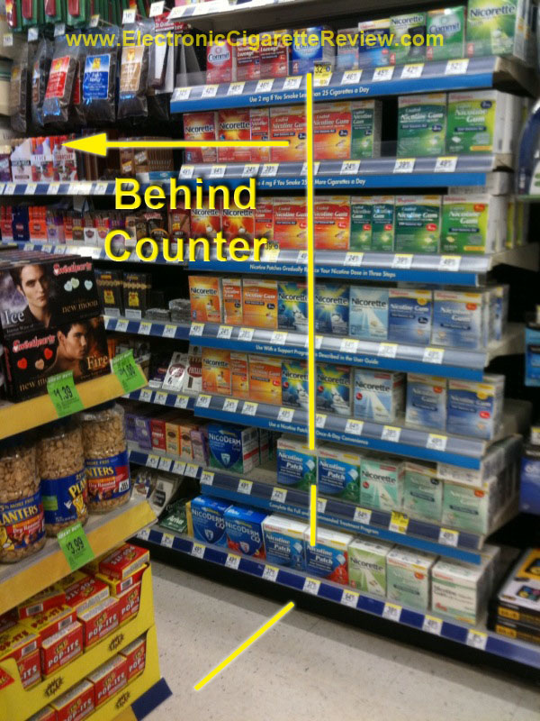 Walgreens Nicotine Gum & Candy at Least Partially Behind Counter